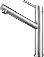 Kitchen sink mixer taps, stainless steel